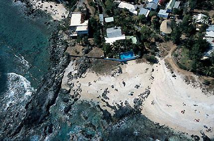 La côte ouest de l'île