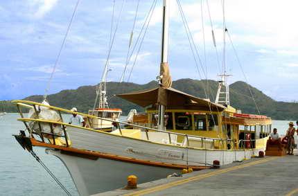 A bord des navettes inter-îles