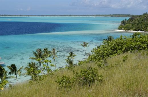 En vue de Bora Bora