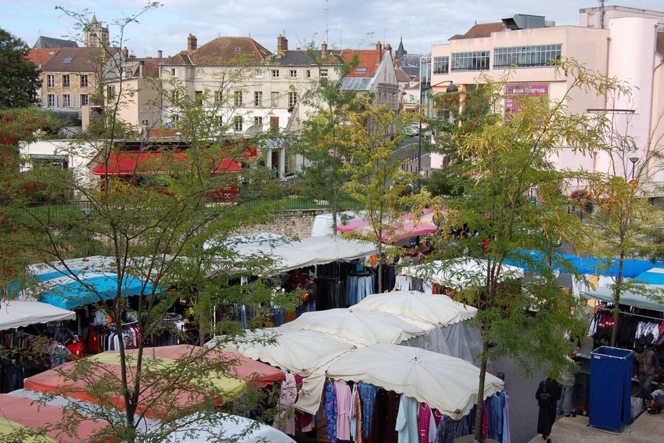 La città è divisa in tre parti: la riva nord, la riva sud e l'île Saint-Etienne.