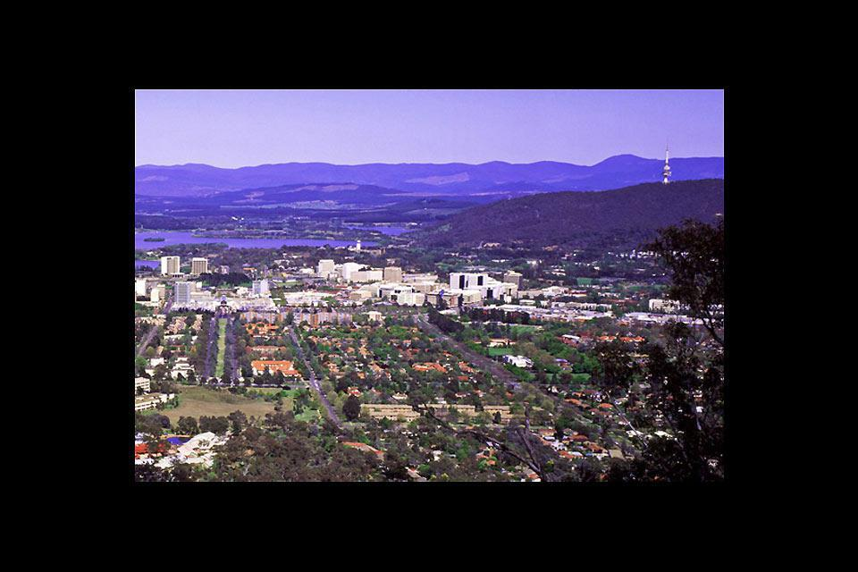 Canberra pourrait se surnommer ainsi grâce à ses nombreux espaces verts.