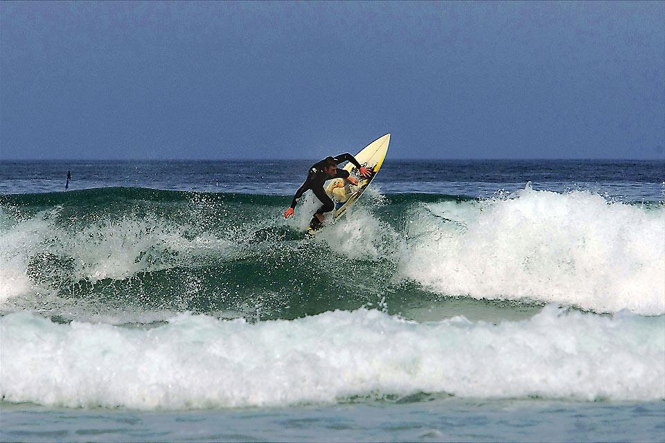 Cherbourg is one of the best spots for surfing in Normandy. The waves can reach over 3 metres high.