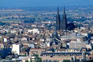 Clermont-Ferrand lies amid the region's volcanic mountains, and has an interesting medieval quarter to explore.