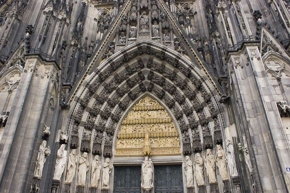 The Cologne Cathedral is one of the world's largest Gothic cathedrals.