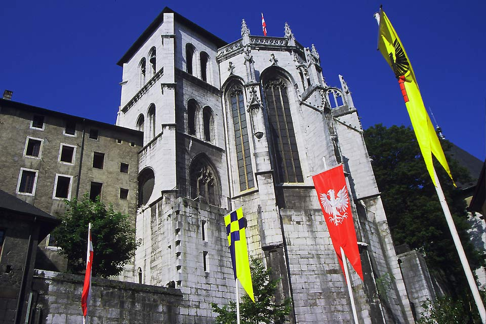 The Holy Chapel was built between 1408 and 1425 by Amadeus VIII.