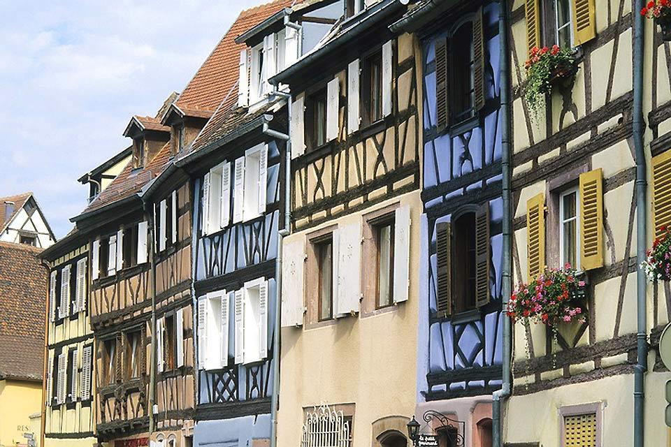 La «pequeña Venecia» cuenta con numerosas casas con entramado. Esta técnica data por lo menos de la Alta Edad Media.