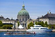 Amalienborg Palace is the residence of the Danish monarchy.