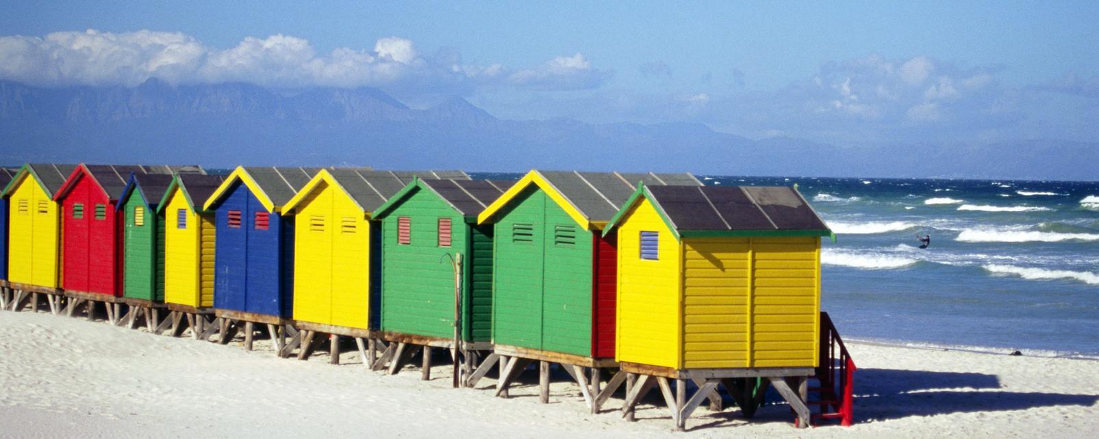 Le Cap, afrique, afrique du sud, plage, cabine, sable, océan, mer,