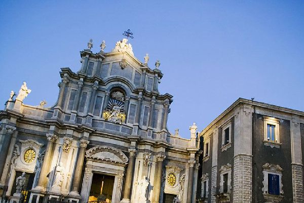 Catania Cathedral is dedicated to St. Agatha, a saint, virgin and martyr and patron saint of the city of Catania.