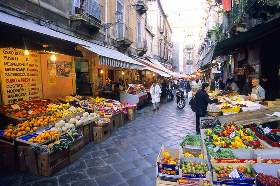 Catania is home to many large markets, including the Pescheria fish market and the market held at the Piazza Carlo Alberto, known as the Fera 'o Luni