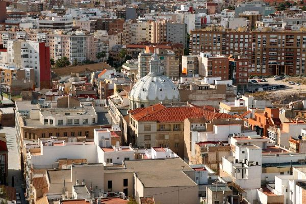 The city of Cartagena is located by the Mediterranean coast in the Region of Murcia.