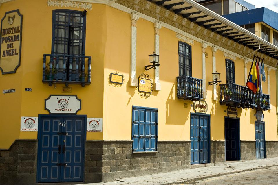 The Posada del Angel Hotel is an old restored colonial home located in Cuenca's historical centre.