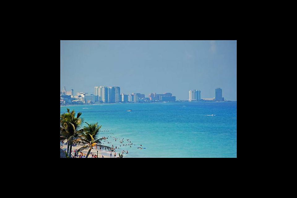 Veduta sui grattacieli di Cancún