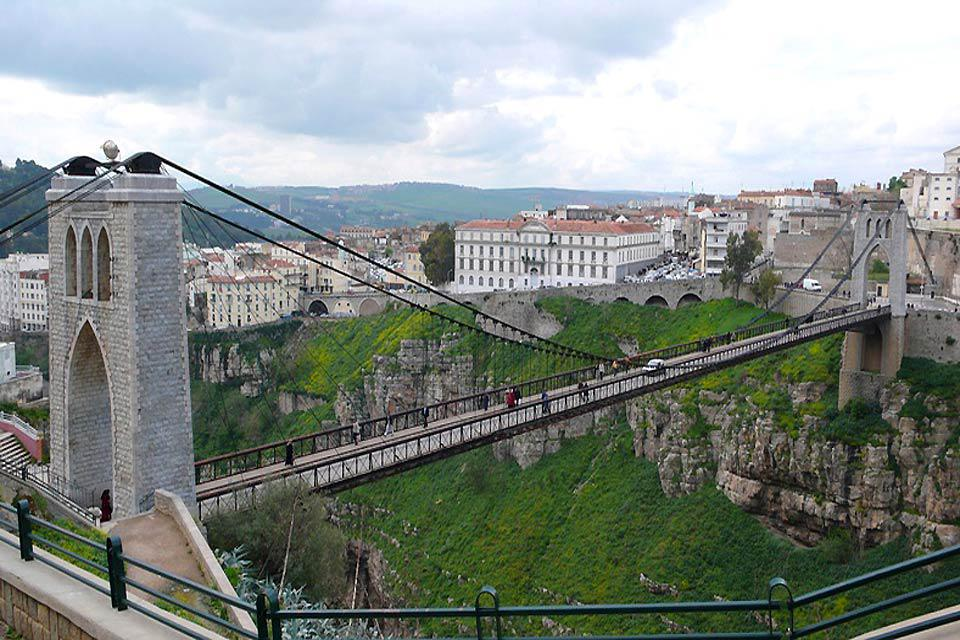 This suspended bridge spans the gorges 175m above the Rhumel river.