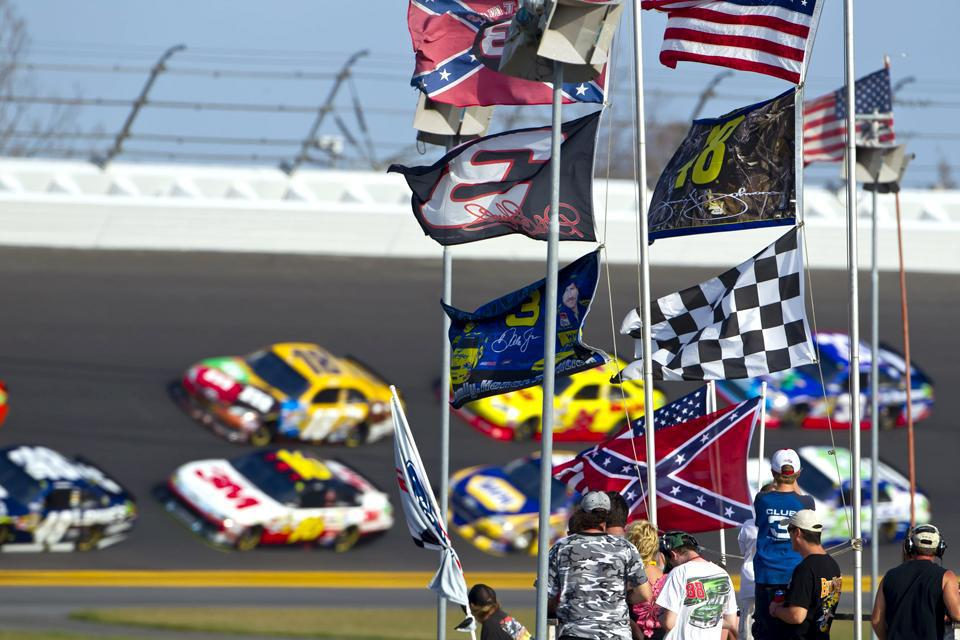 For the Gatorade Duel race, the NASCAR teams drive around the Daytona International Speedway track, in the city sure to delight car enthusiasts.