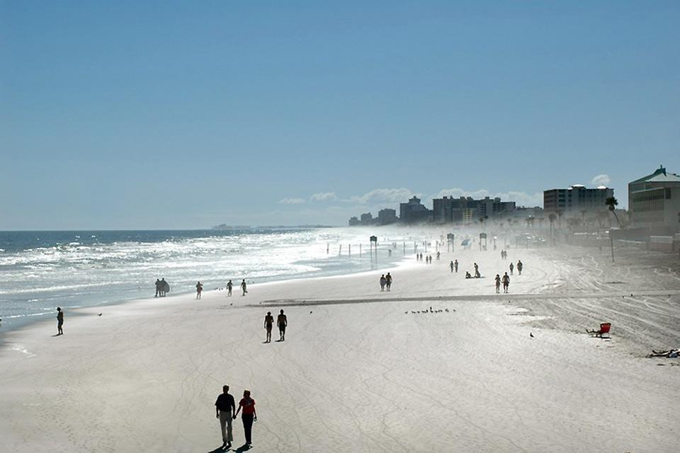 Daytona Beach is the most developed seaside city on Florida's east coast.