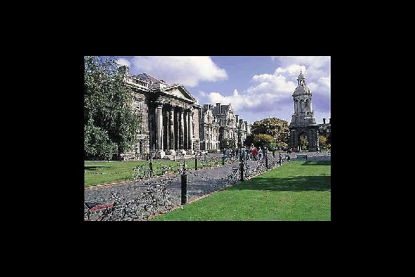 Trinity College, one of the most prestigious academic institutions in the world, covers an area of 54 acres in the heart of the Irish capital.