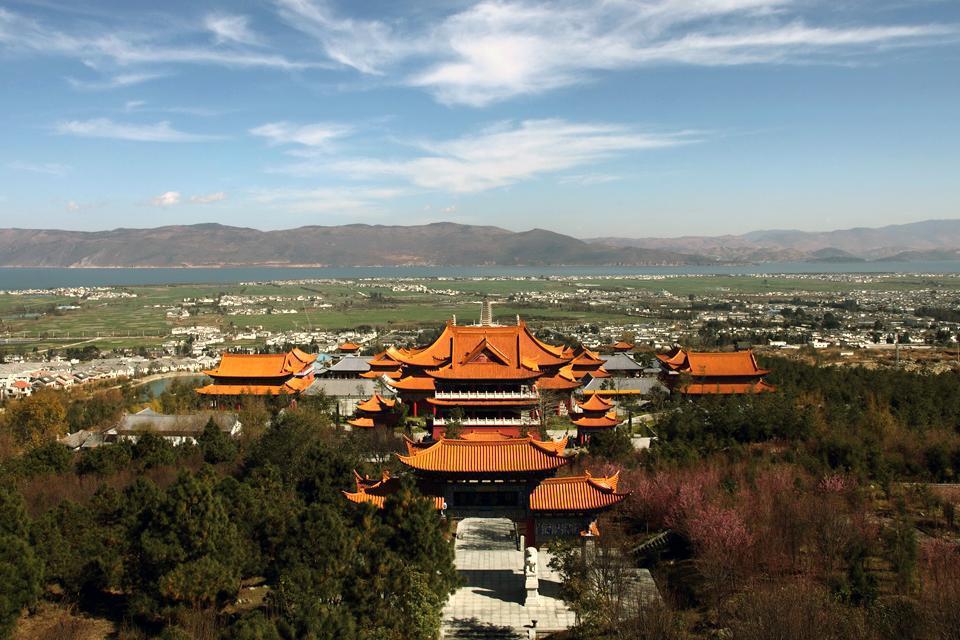 Le temple Guanyin Tang temple se trouve au sud de Dali.