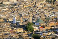 Vista de la ciudad desde la colina.