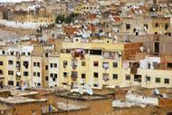 """Puerta de la necrópolis de los Mariníes, bautizada como """"el lugar más romántico de Marruecos""""."""
