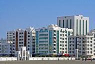 130,000 inhabitants live in an area of 560 mi².