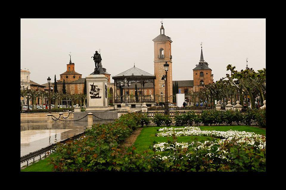 Alcala de Henares was the world's first university town, and the birthplace of Miguel de Cervantès.