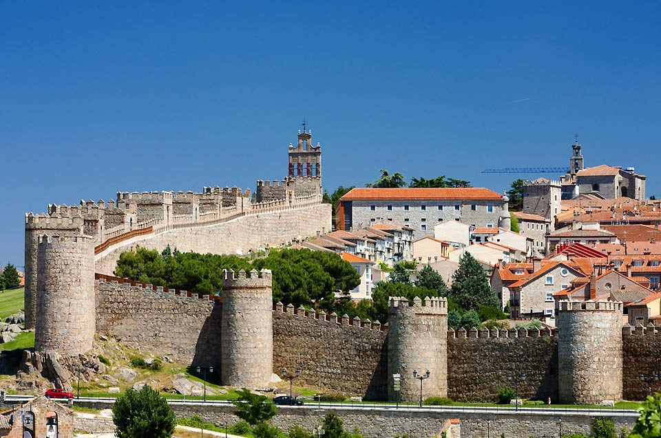 The entire city is surrounded by this fortified medieval wall dating from the 11th century. It is made up of 88 towers.