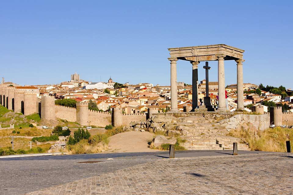 Ávila está situada a 1182 metros por encima del nivel del mar.