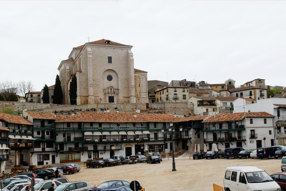In summer, the Plaza Mayor, a renowned bullfighting location, is transformed into an arena where corridas take place.