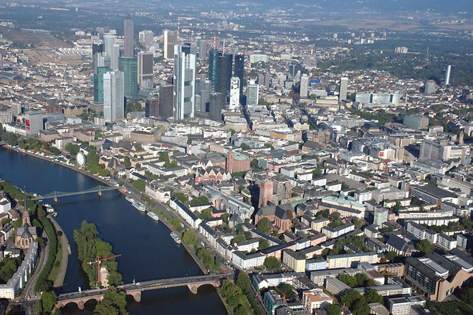 Frankfurt is known worldwide for being a finance hub.