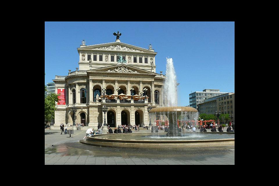 The Frankfurt Opera is one of the city's main attractions.