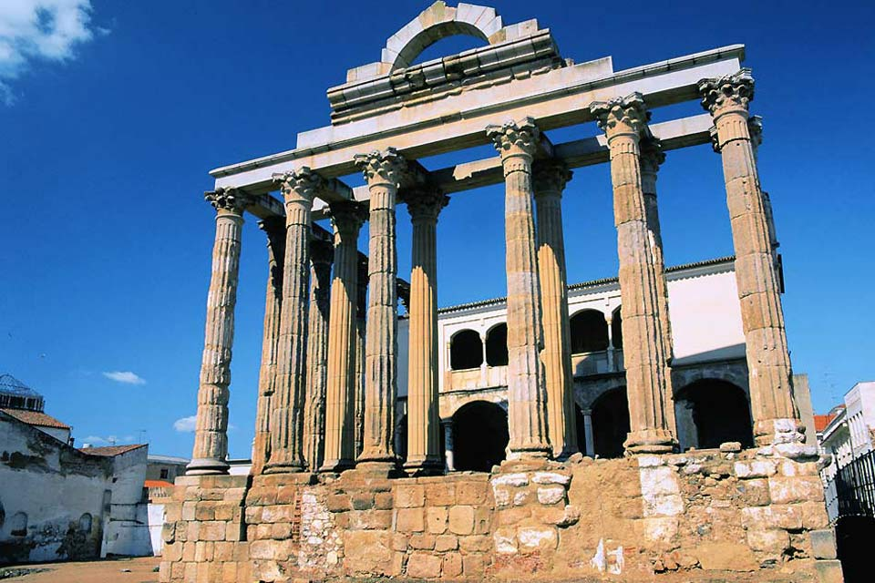 The city of Caceres was founded by the Romans in 34 BC, explaining the large number of remains found in the city and the surrounding region.