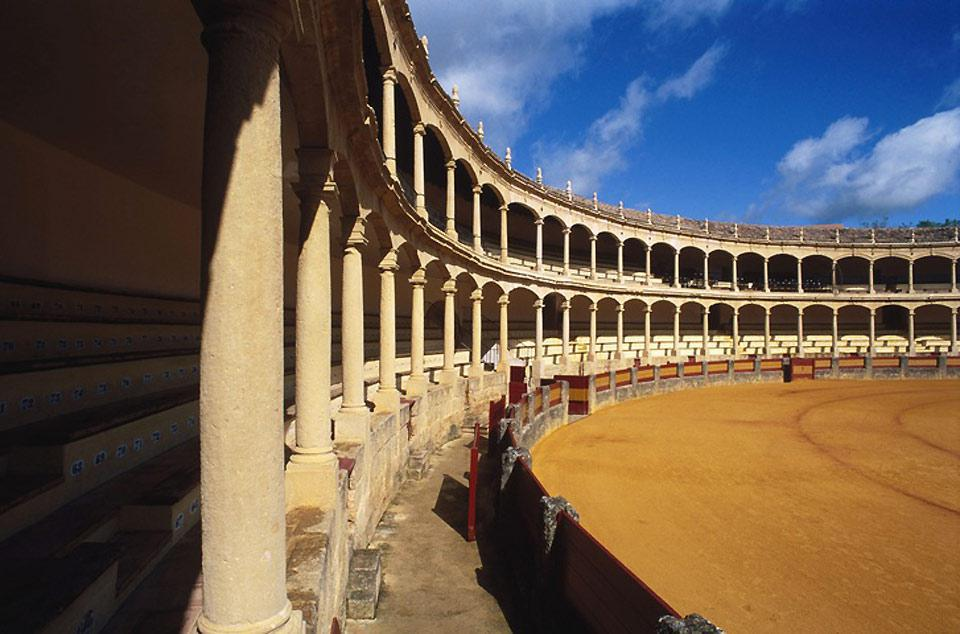 Ronda's bullring is one of the oldest and biggest in Spain.