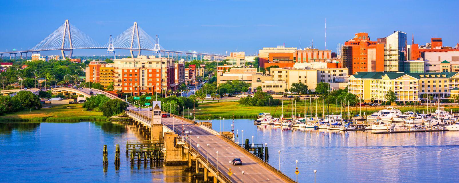 Charleston, Le sud des Etats-Unis, Etats-Unis, Charleston sur la rivière Ashley