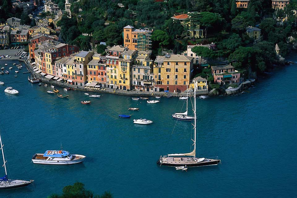 This seafaring village a few miles from Genoa is one of the most exclusive communities on the Ligurian coast.