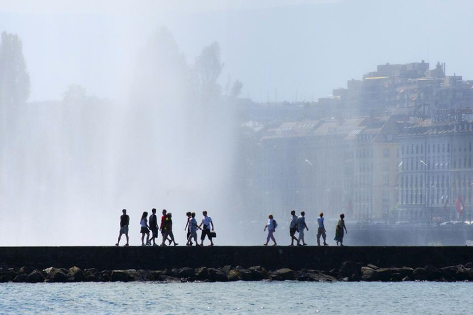 Geneva is known for its 140 metre-high 'water jet'.