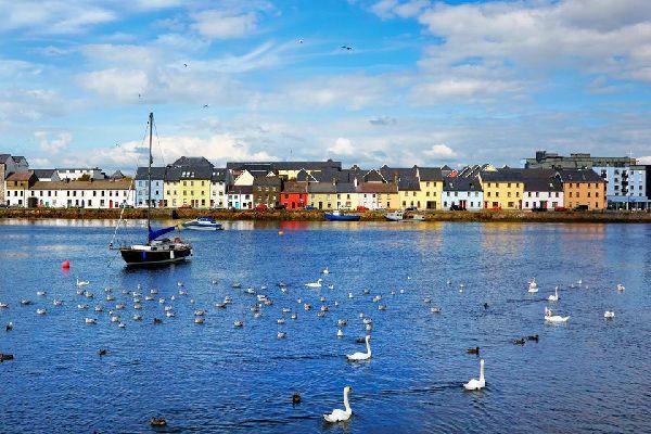 Situata nel Connemara, Galway è famosa per il Lynch's Castle, un edificio del XVI secolo considerato uno dei più belli dell'isola. L'architettura stupefacente delle case del porto ricorda i rapporti commerciali che esistevano con la Spagna. Quay street, una delle strade più vivaci, accoglie numerosi ristoranti e pub molto simpatici, ma la città conosce purtroppo un'affluenza turistica esagerata, d'estate....