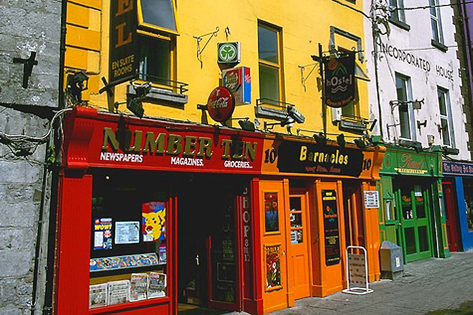 The small city of Galway is very popular with tourists for its 'typically' Irish atmosphere