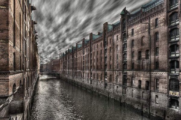 The hundred year-old Speicherstadt is the largest single warehouse complex in the world.