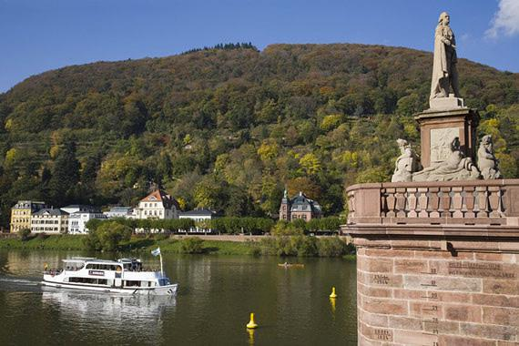 Heidelberg's main attraction is the sandstone castle which overlooks ...