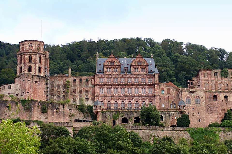 Heidelberg Castle is a very old structure.