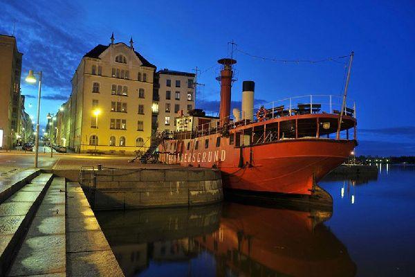 Le port d'Helsinki est le principal port de Finlande.