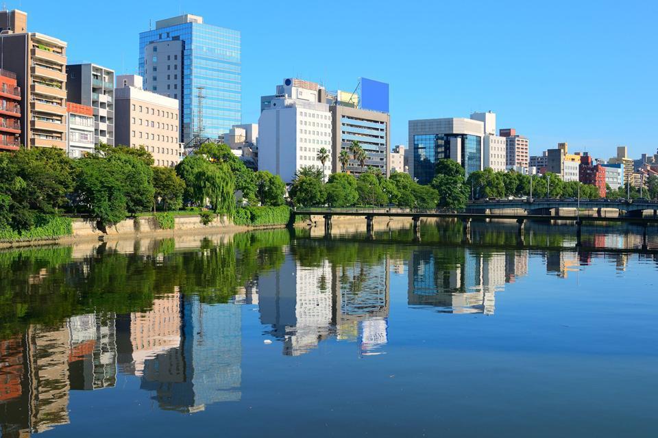 La ciudad y el castillo de Hiroshima se fundaron en una de las islas del río Otagawa.