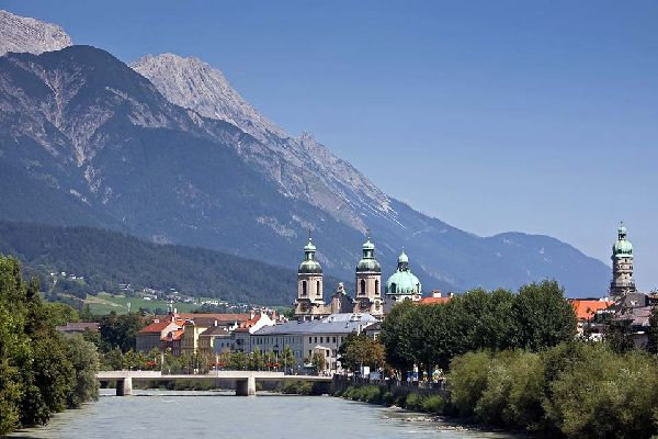 Thy city gets its name from the 'Inn' river and the word 'brücke', which means 'bridge' in German.