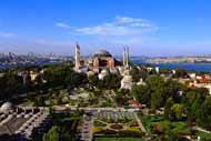 The Byzantine church of Hagia Sophia is a great architectural beauty and one of the most recognised symbols of Istanbul