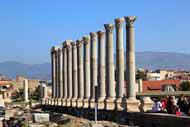 The Agora in Izmir is the largest of the Ionian agoras.