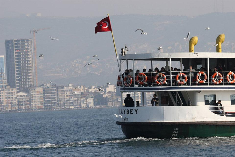 The port of Izmir is the second largest port in Turkey.