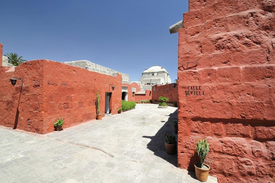 Angolo particolarmente colorato della città di Arequipa.
