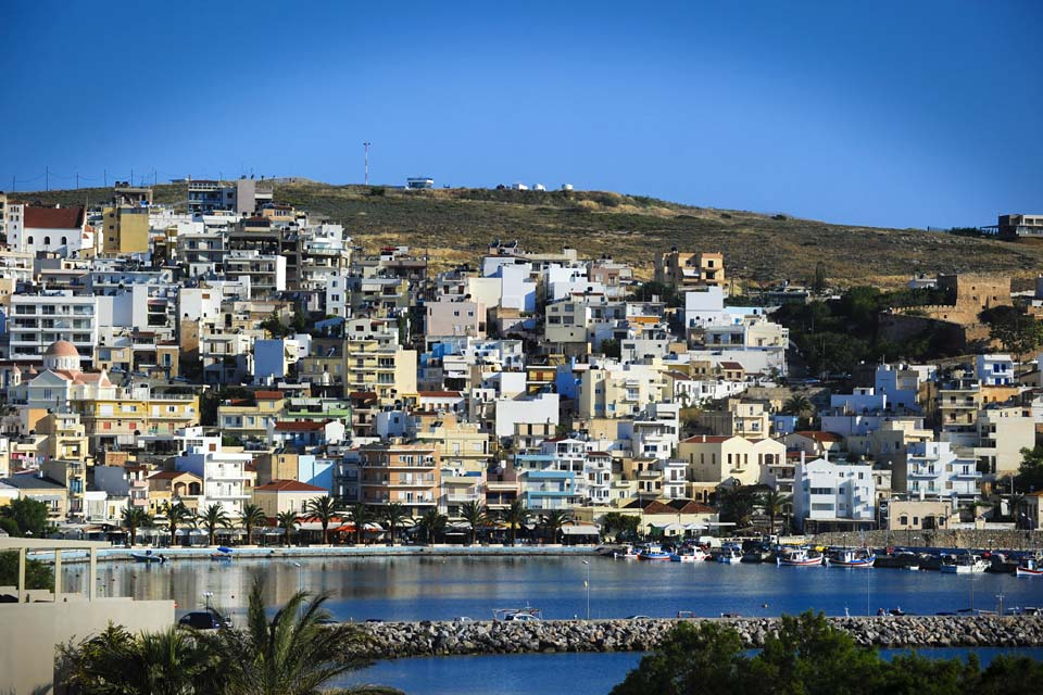 East of Crete and 47 miles from Agio Nikolaos, Sitia is a peaceful seaside town.