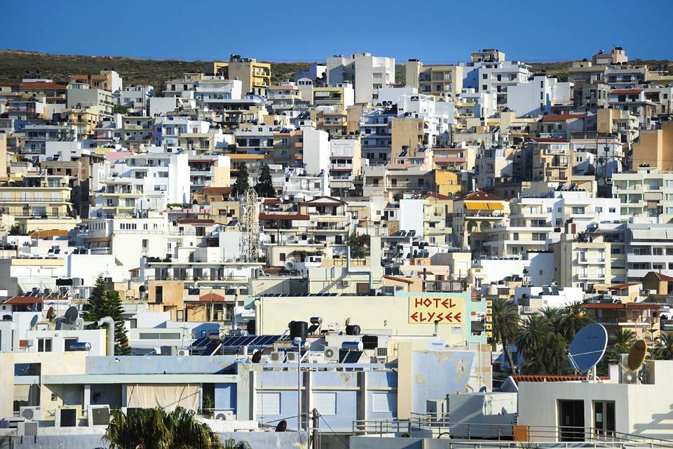 La ville est construite comme un amphithéatre occupant les pentes du relief environnant et sillonnée d'escaliers.